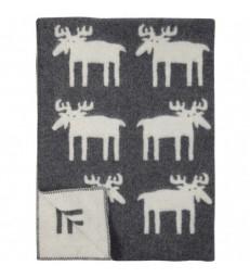 Moose Wool Blanket Throw