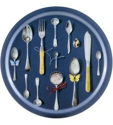Birch Trays - Cutlery Dark Blue