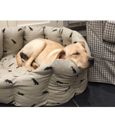 Large Dog Bed - Labrador Design