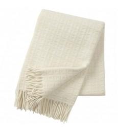 Natural White TWIST Wool Throw