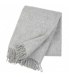 Grey TWIST Wool Throw