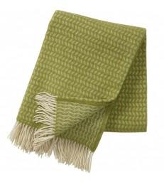 Leaf Green Wool Throw
