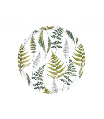 Fern Botanical 31cm Round Birch Tray