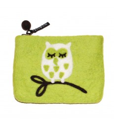 Wise Owl Felted Purse
