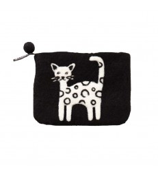 Cat Felted Purse