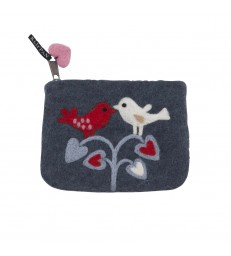 Love Birds Felted Purse