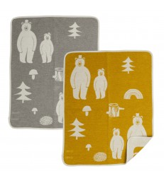 Woodland Friends Baby Blanket - Grey/Yellow