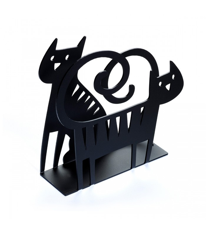Black Cat Metal Napkin Holder