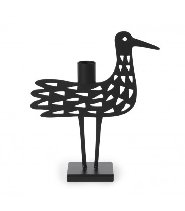 metal bird theme candlestick holder swedish design