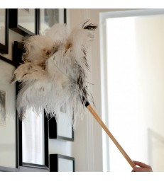 Special White Ostrich feather duster