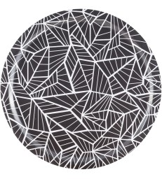 Black and White Birch Tray - Geometric Pattern