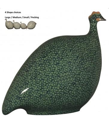 Guinea Fowl Green Cobalt