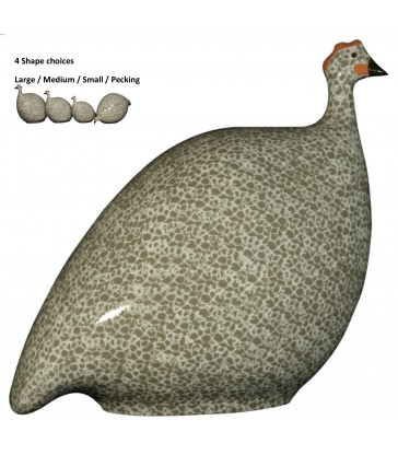 Guinea Fowl Grey White