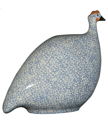 Pale blue an dwhite guinea fowl ceramics for your home