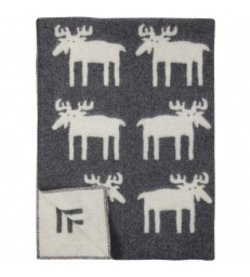 Moose Wool Blanket Throw