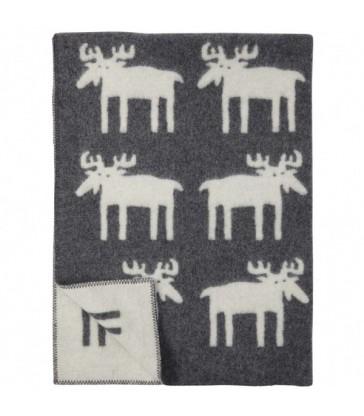 Moose blanket grey wool blanket