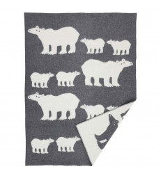 Polar Bear woollen blanket throw