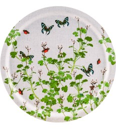 Birch Trays - Geraniums White