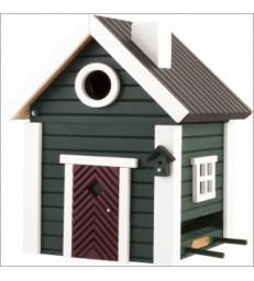 Dark Green Cottage Bird Feeder & Nesting Box