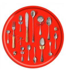 Birch Trays - Cutlery Red