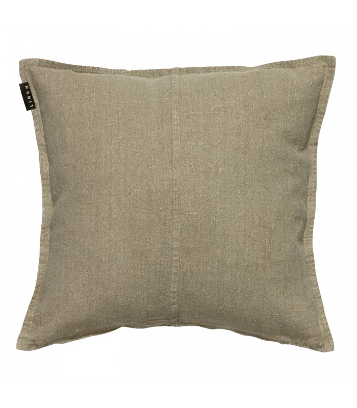 beige stone washed linen cushion