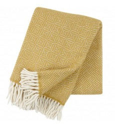 Yellow SAMBA Brushed Lambs Wool Throw