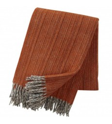 Rust Orange BJORK Woollen Throw