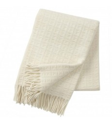 Natural White TWIST Wool Throw