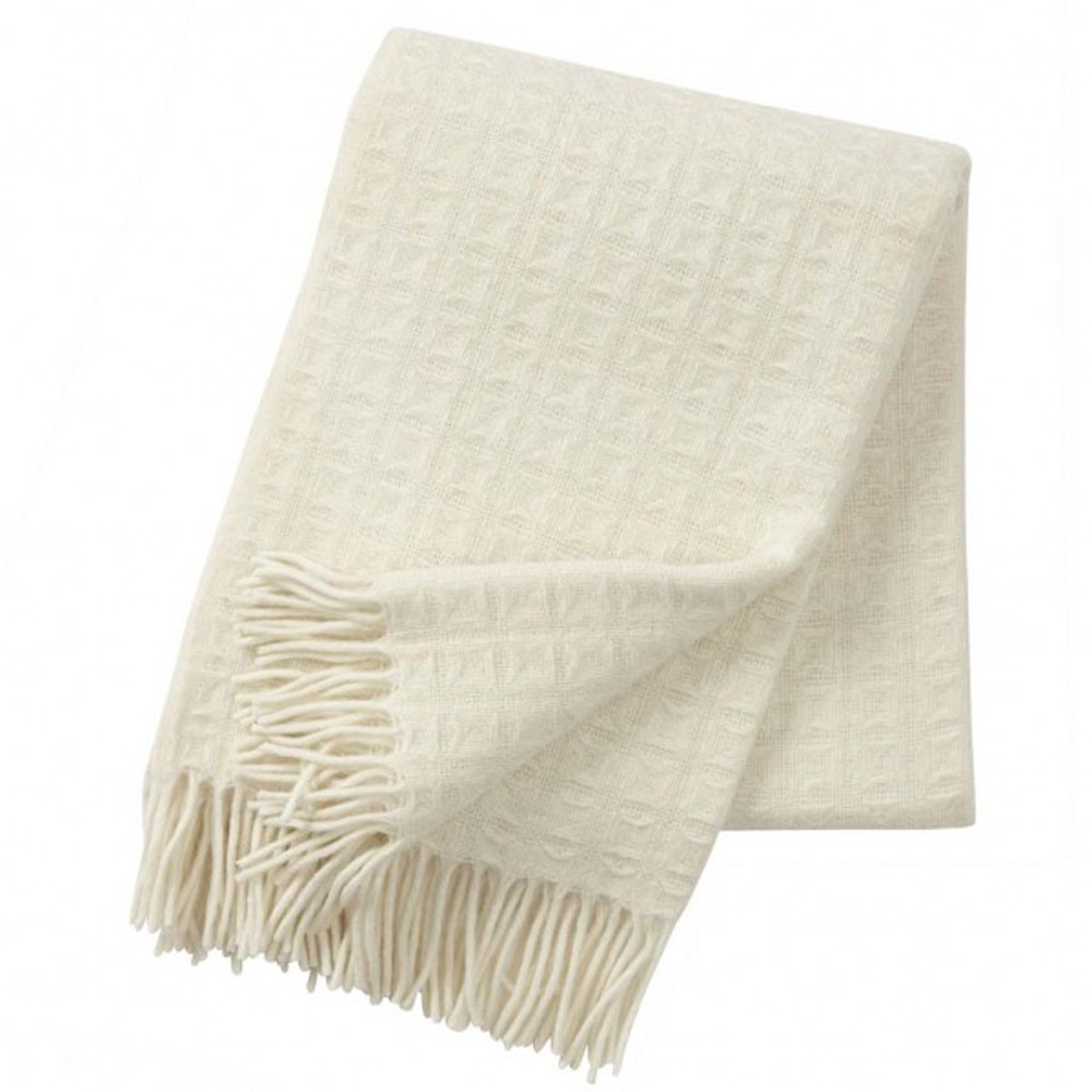 Natural White Twist Wool Throw The Blue Door
