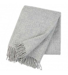 Grey TWIST Wool Throw