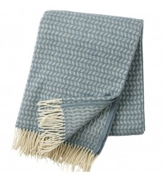 Lead Grey Leaf Wool Throw