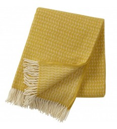 Yellow Leaf Wool Throw