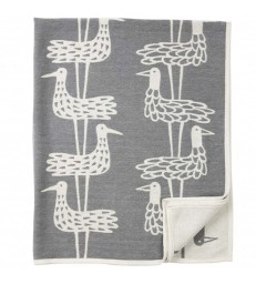 Grey Shorebirds Cotton Blanket