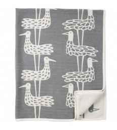 Grey Shorebirds Cotton Blanket