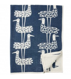 Blue Shorebirds Cotton Blanket