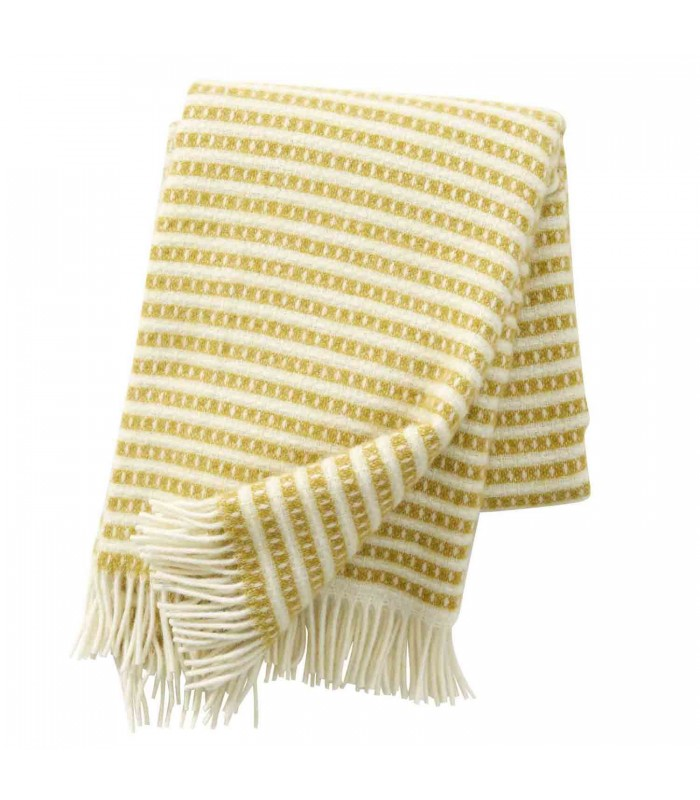 Saffron Yellow Wool Throw Blanket