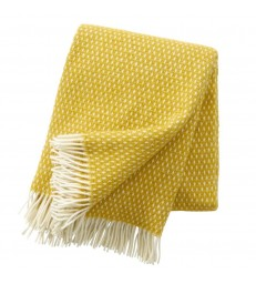 Saffron Yellow Wool Throw