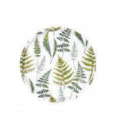 Fern Botanical Round Birch Tray