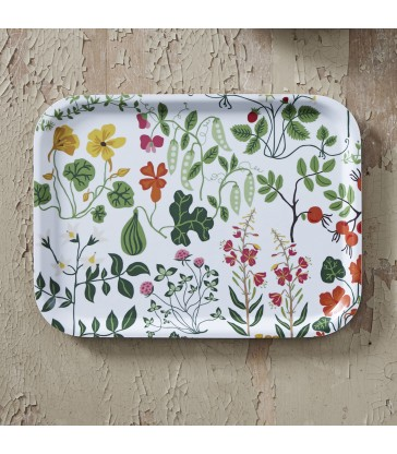 Swedish Flower Design Birch Tray