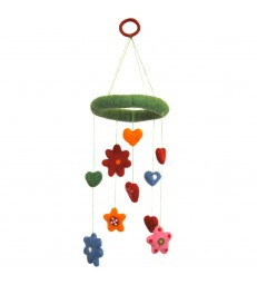 Hearts and Flowers Felt Baby Mobile