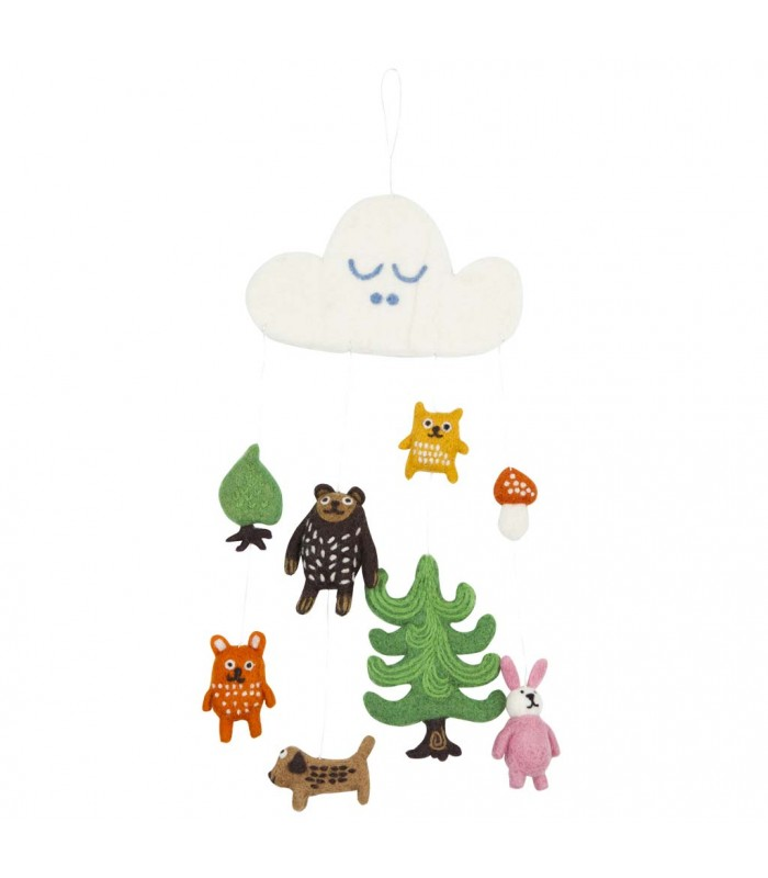 Forest Creatures Felted Mobile Nursery animal decoration