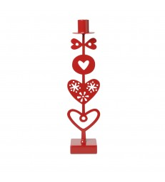 Red Hearts Candlestick