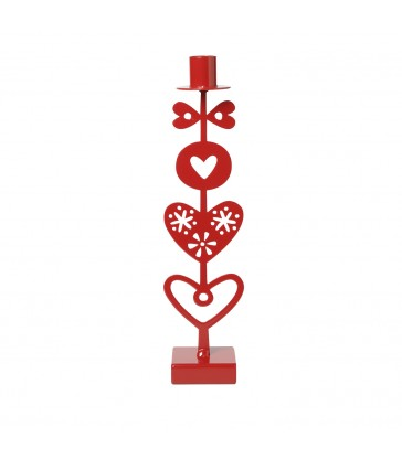 Red Hearts Candlestick Gifts for her