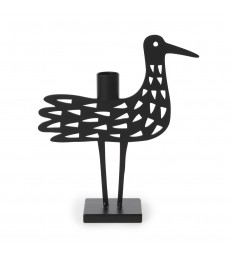 Black Ironwork Bird Candlestick
