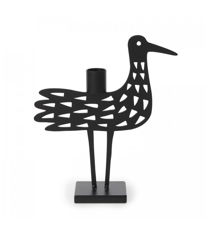 metal bird theme candlestick holder swedish design