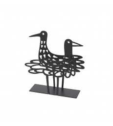 Shorebirds Napkin Holder - Black