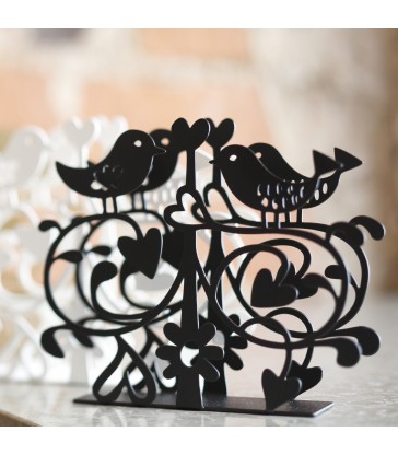 Lovebirds paper napkin holder pretty tableware