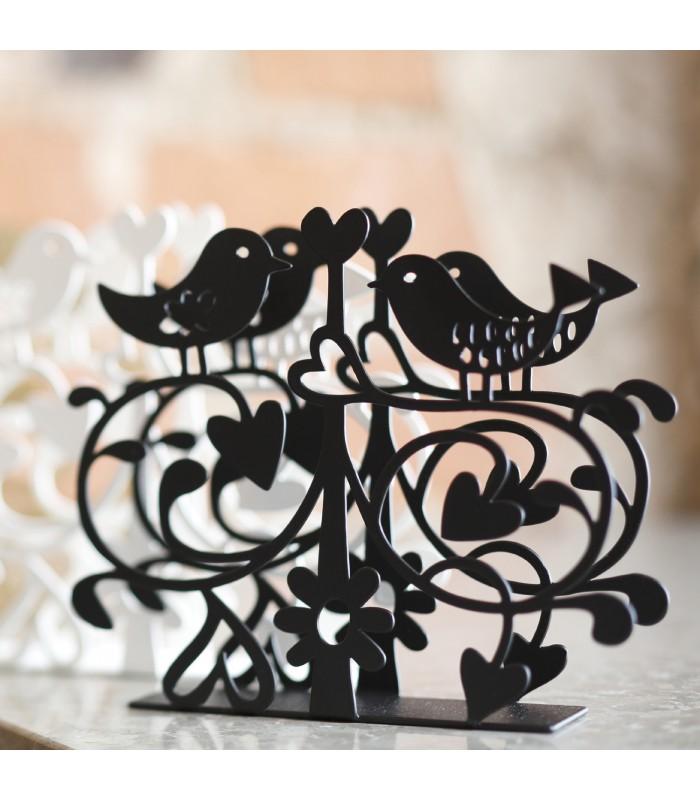 Lovebirds paper napkin holder pretty tableware