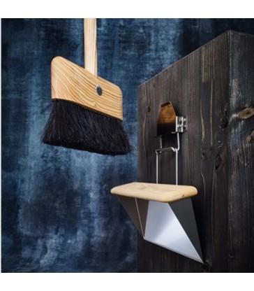 designer dustpan and brush set at the blue door