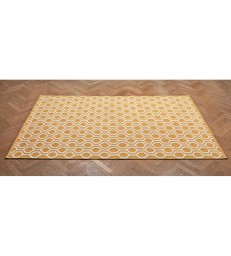 Large Floor Rug Yellow & White